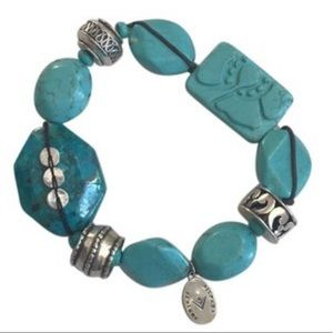 Silpada Turquoise Howlite Magnasit Bracelet